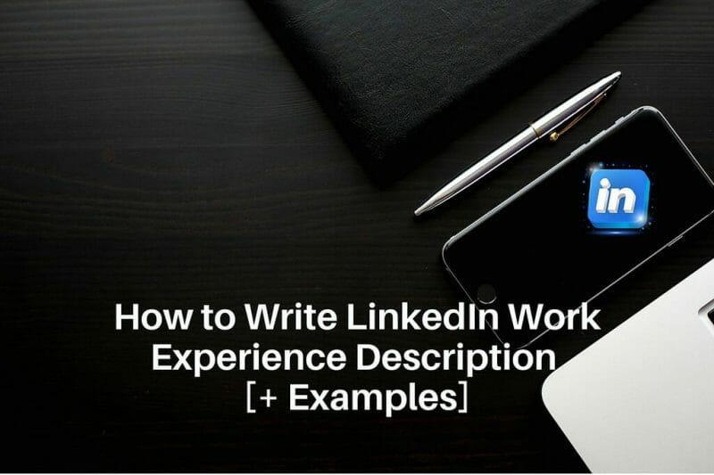 linkedin work experience description examples