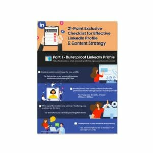 21-point checklist for linkedin profile and content strategy featured image filt pod