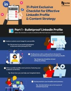 21 Point Exclusive Checklist for Effective LinkedIn Profile and Content Strategy - 1
